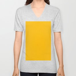 color for Feeling of Embers (#FDBB05-selective yellow) Unisex V-Neck