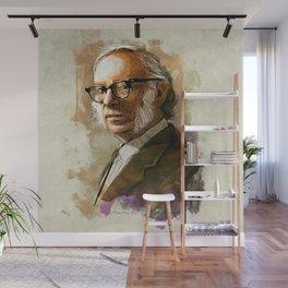 Isaac Asimov Portrait Wall Mural