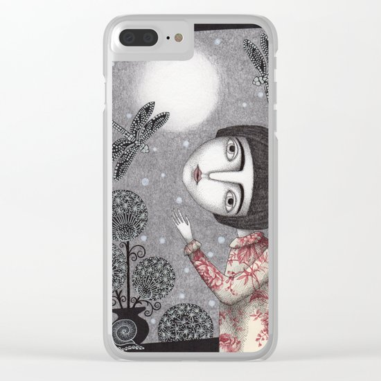 Night Sky. Dragonfly. Clear iPhone Case