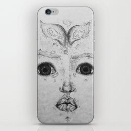 The Whales Are Swimming In My Mind iPhone Skin