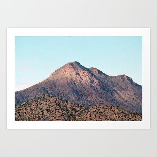 the mountain layer Art Print