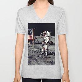 Salute on the Moon Unisex V-Neck