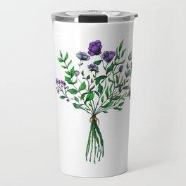 Purple Wildflower Bunch Travel Mug