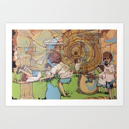 Races In Time Art Print