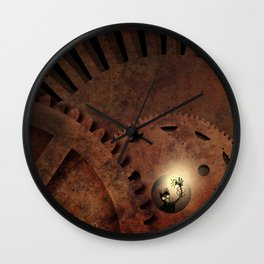 The Man in the Machine - A Steampunk Fantasy Wall Clock