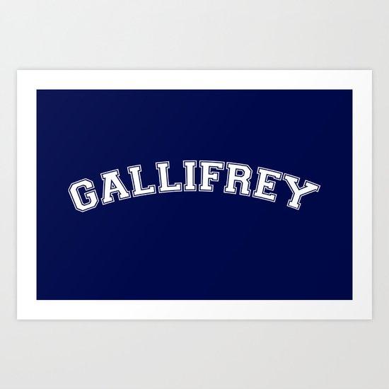 Gallifrey College Logo Art Print