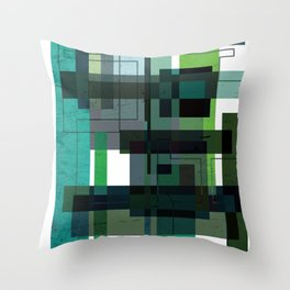 Green labyrinth Throw Pillow