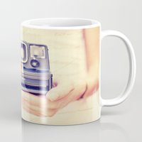 polaroid Mugs featuring Polaroid by Irene Miravete