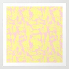pink yellow Art Print