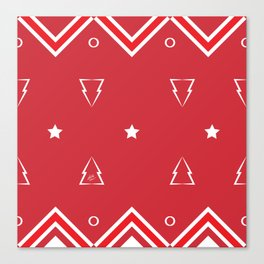 Christmas Tree Pattern #xms #holidays #festive #decor #red #white #kirovair Canvas Print