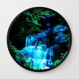 Enchanted waterfall. Wall Clock