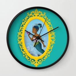Classic Mermaid Dreams Wall Clock