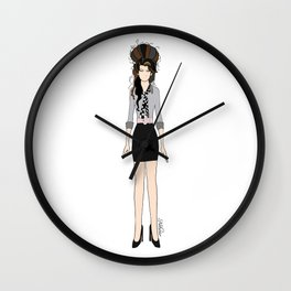Amy Rehab Outfit 1 Wall Clock