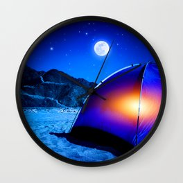 West side Camping Wall Clock