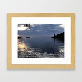 Early Morning Bear Rock Guam by Cynthia Flores Framed Art Print