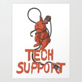 Bunny Tech Support Art Print