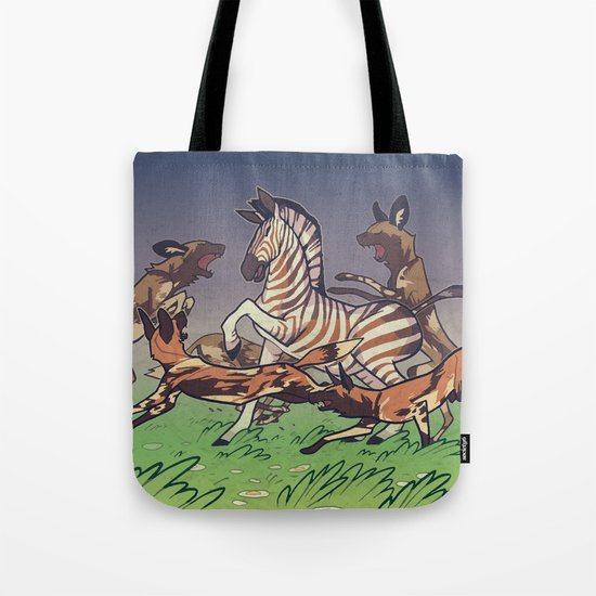 African Wild Dog Tote Bag