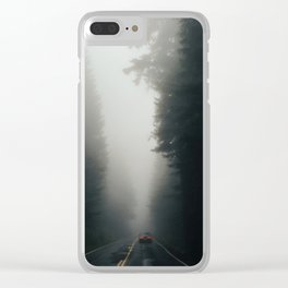 Dark Forest Driving Clear iPhone Case