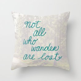 Time to Wander Throw Pillow