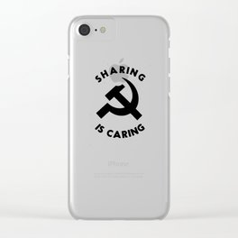 Sharing Is Caring Clear iPhone Case