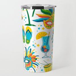 Colorful Brazilian Carnaval mandala Travel Mug