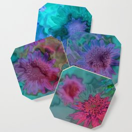 Flowers abstract #2 Coaster