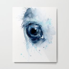 Watercolor Horse Eye Metal Print