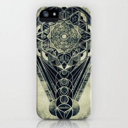 Sacred Geometry for your daily life -  Galactic OHM iPhone Case
