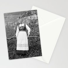 Miss Onion by the bushes. 1915. Stationery Cards