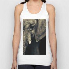 Elephant's face Unisex Tank Top