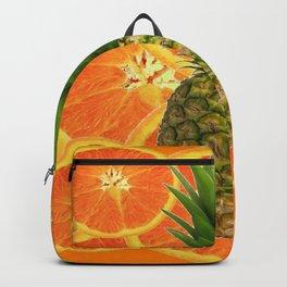 TROPICAL PINEAPPLE & JUICY ORANGE SLICES FRUIT Backpack