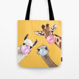 Bubble Gum Gang in Yellow Tote Bag
