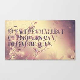 Even the smallest of flowers Canvas Print