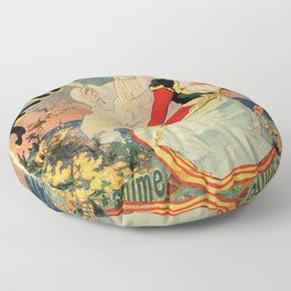French belle epoque mime theatre advertising Floor Pillow