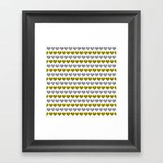 Silver and Gold Hearts Pattern Framed Art Print