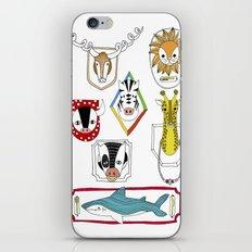 Animals head plaques iPhone & iPod Skin