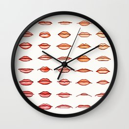 Lips II Wall Clock