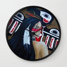Raven Goddess Wall Clock