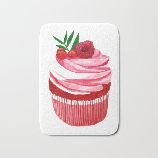 Red velvet cupcake Bath Mat