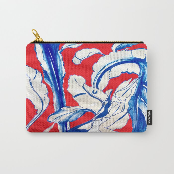 Plant in Blue Marker - Leaf of Life Miracle Leaf - RED Carry-All Pouch