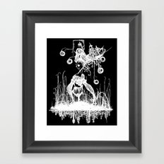 Swamp Lady Inverted Framed Art Print