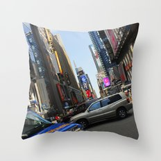 New York City Time Square NYC Throw Pillow