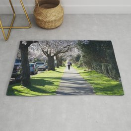 Cherry Blossom Sidewalk Rug