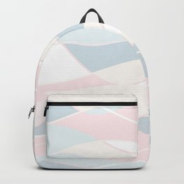 Pastel Waves // Beach Surf Light Colors Peach Blush Aqua Ocean Tides Vintage Surfing Vibes Backpack