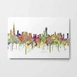 Chicago,Ilinois Skyline SG -Faded Glory Metal Print