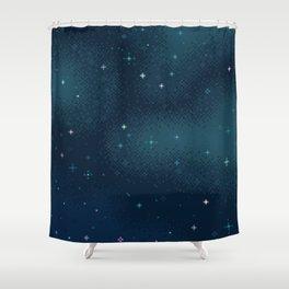 Pixel Marine Starlight Galaxy Shower Curtain