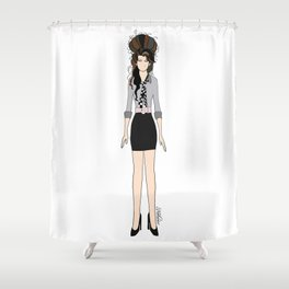 Amy Rehab Outfit 1 Shower Curtain