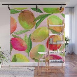 Mango Watercolor Painting Wall Mural