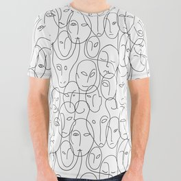 Faces All Over Graphic Tee