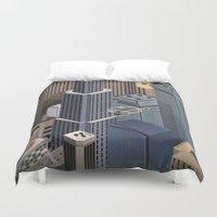 metropolis Duvet Covers featuring Metropolis by Soak